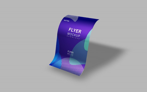 Elegant and beautiful simple flyer presentation mockup