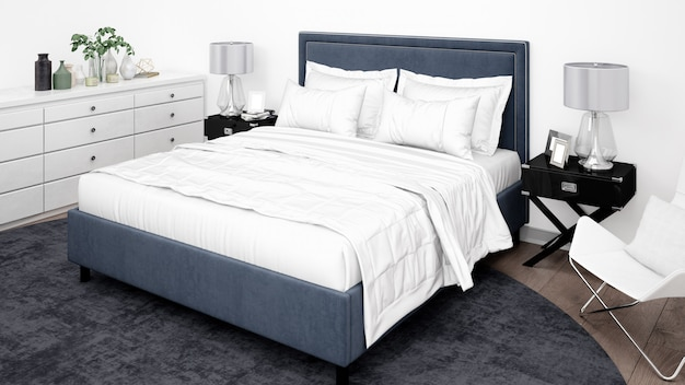 Элегантная спальня или гостиничный номер с классической мебелью