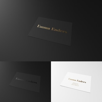 Elegant black and white business card