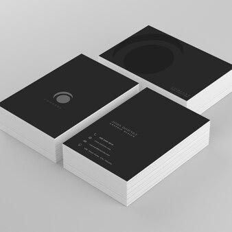 Elegant black business card mockup