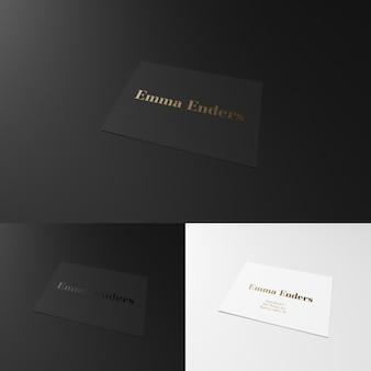 Elegant black and white business card