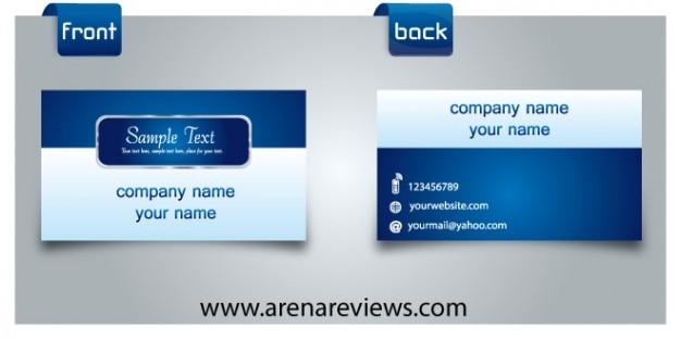 Elegant blue company card template
