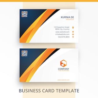 Elegant bright brand identity business card template
