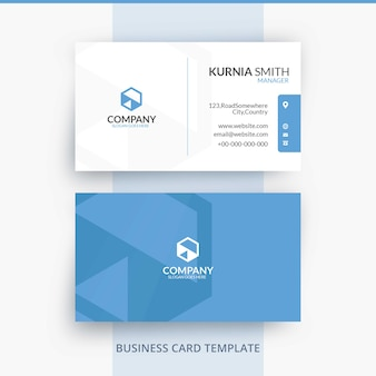 Elegant bright brand identity business card template