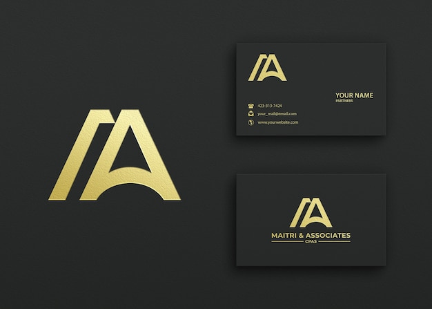 Elegant business card logo mockup