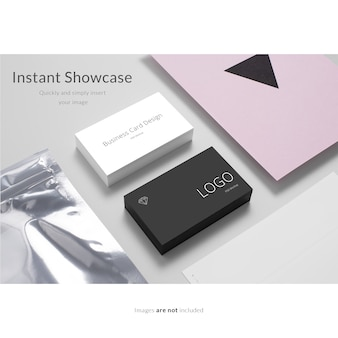 Elegant business card mock up