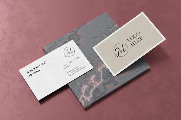 Элегантный дизайн макета визитки в 3d-рендеринге