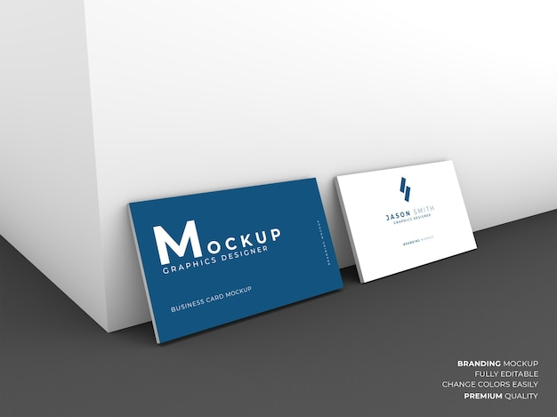 Elegant business card mockup isolated
