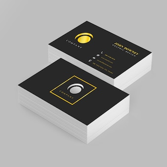 Business card stack vectors photos and psd files free download elegant business card mockup with two stacks colourmoves