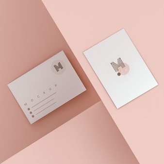 Elegant business card mockup