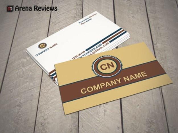 Elegant business card mockup