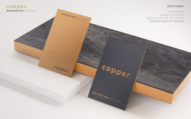 Elegant business card psd mockup