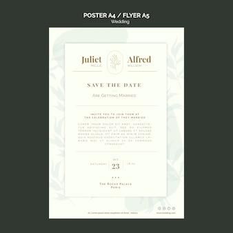 Modello elegante biglietto da visita per il matrimonio