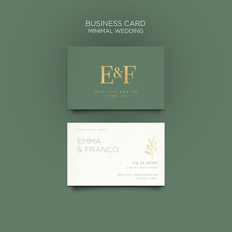 Elegant business card template for wedding Free Psd