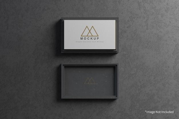 Элегантная визитка с макетом корпуса