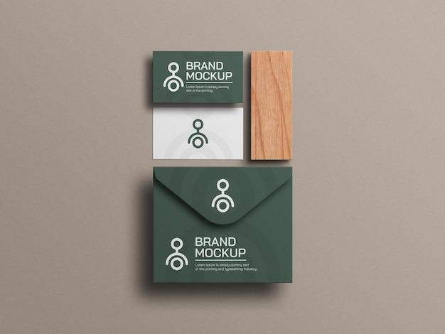 Элегантная визитка с макетом конверта