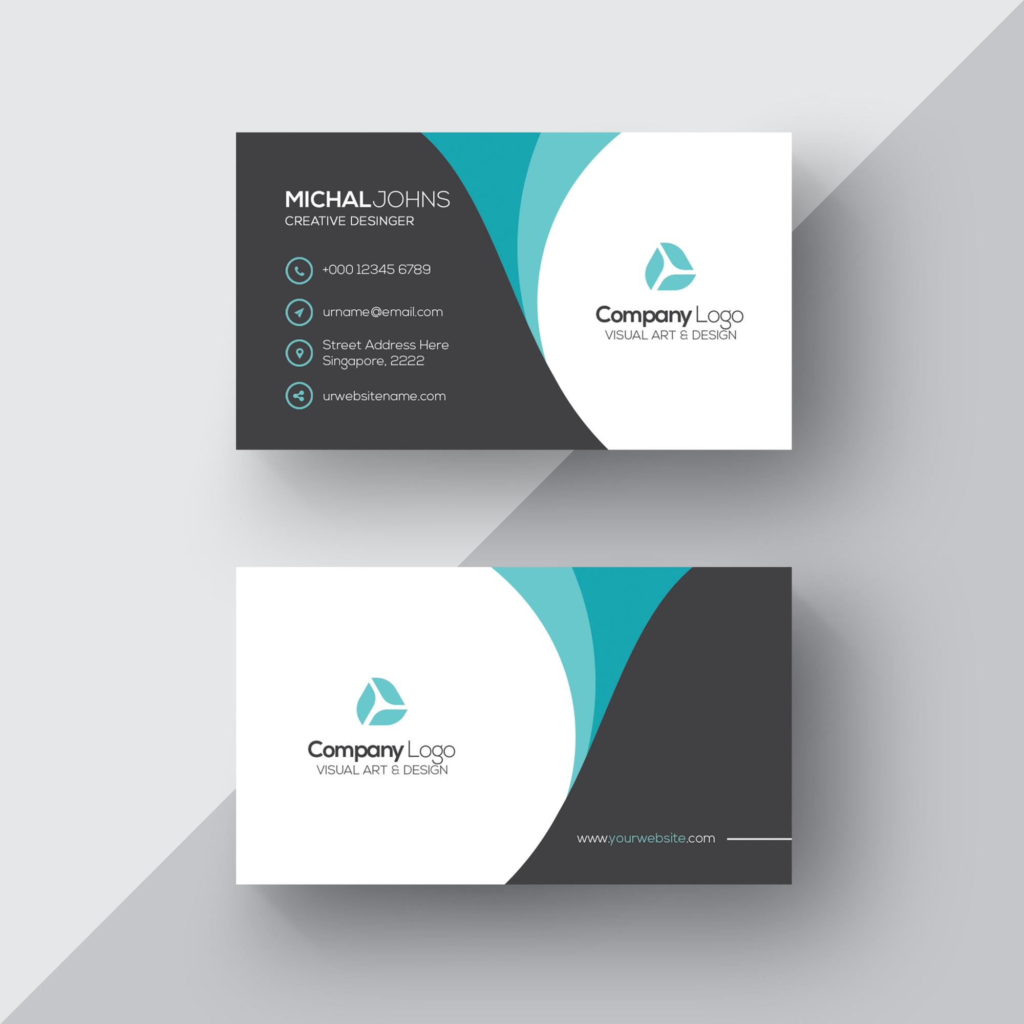 Cards psd 2300 free psd files elegant business card cheaphphosting Image collections