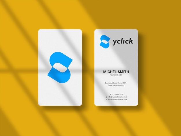 Элегантный макет визиток