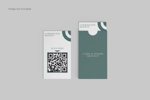 Elegant card and holder mockup