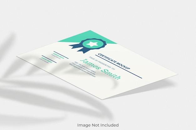 Элегантный макет сертификата с наложением теней