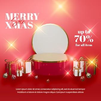 Элегантный новогодний фон в реалистичном стиле с золотым декором