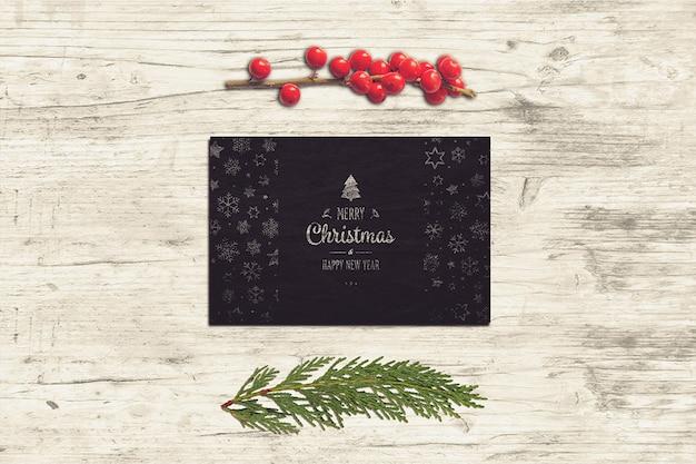 Элегантный макет рождественской открытки