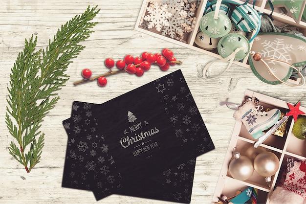 Элегантные рождественские открытки