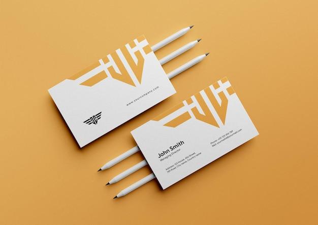 Elegant clean business card mockup