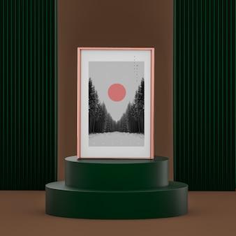 Elegant concept scene with poster mockup