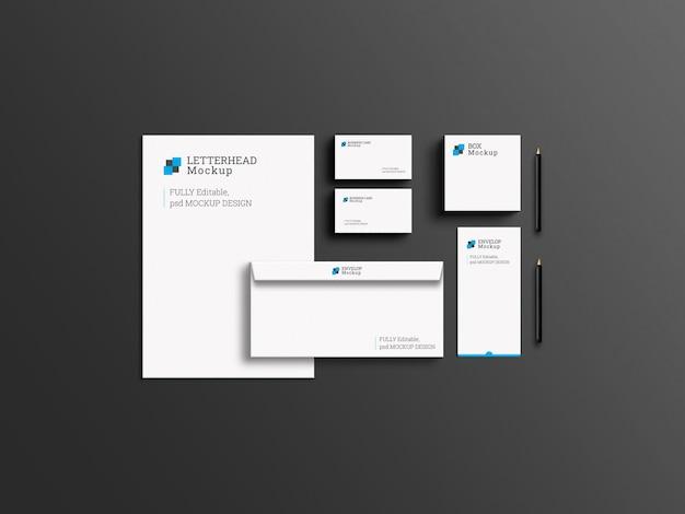 Elegant corporate business branding stationery set mockup