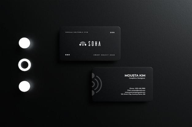 우아한 기업 명함 모형 디자인