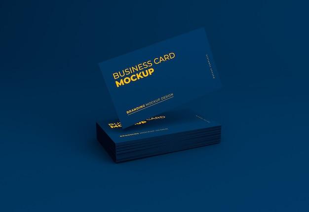 Elegant dark business card mockup