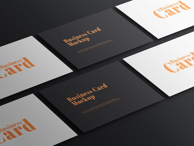 Elegant dark business card psd mockup