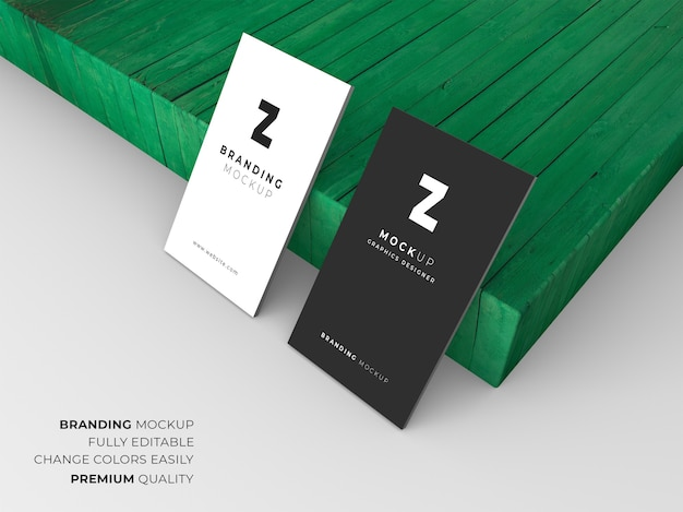 Elegant dark and white business card mockup