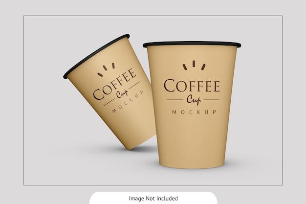 Elegant drink paper cup mockup