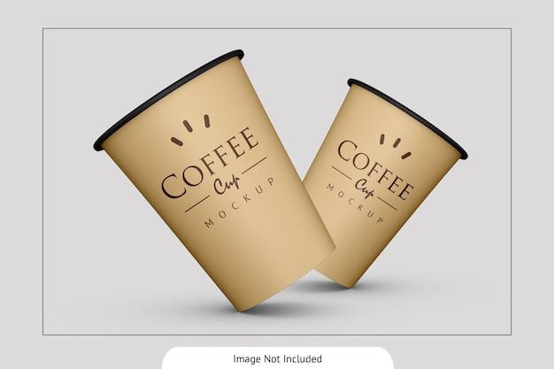 우아한 음료 종이컵 모형