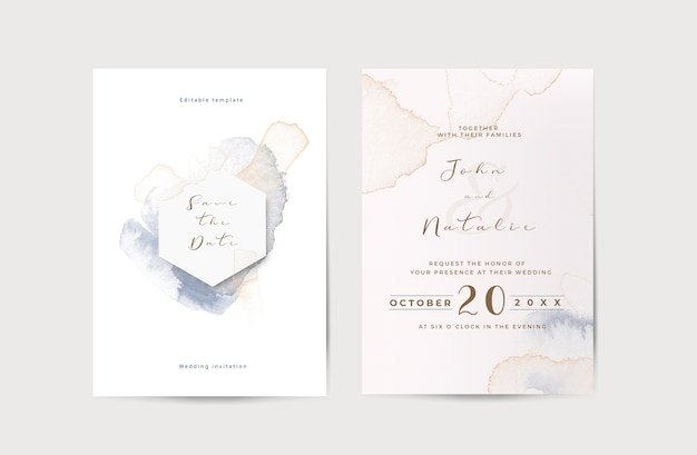Elegant engagement wedding invitation template