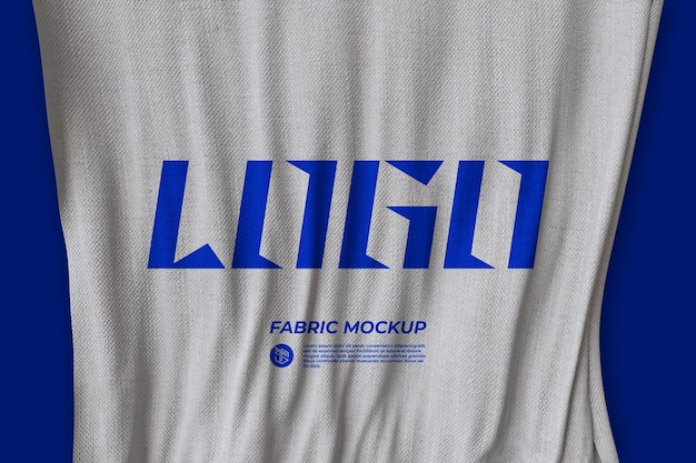 Elegant fabric mockup