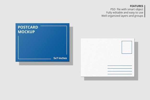エレガントなフローティングポストカードモックアップデザイン