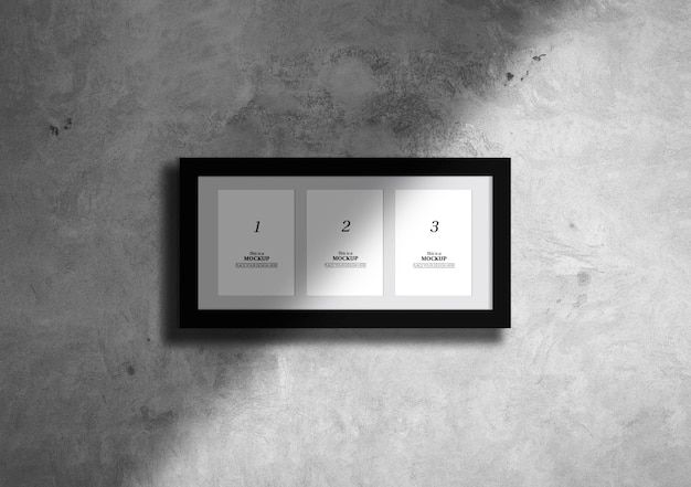 Elegant frames mock-up with shadow