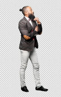 Elegant full body black man isolated
