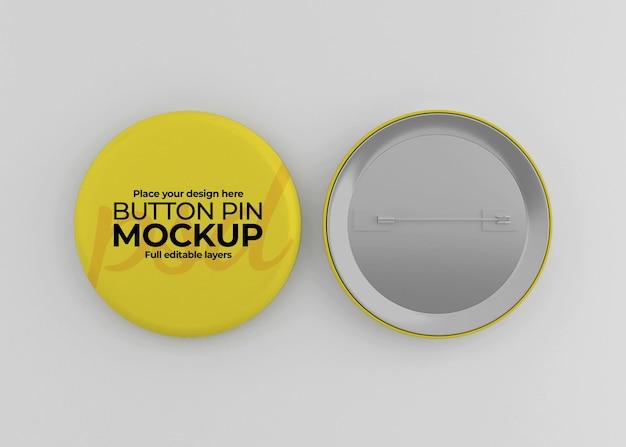 Elegant glossy badge mockup design isolated