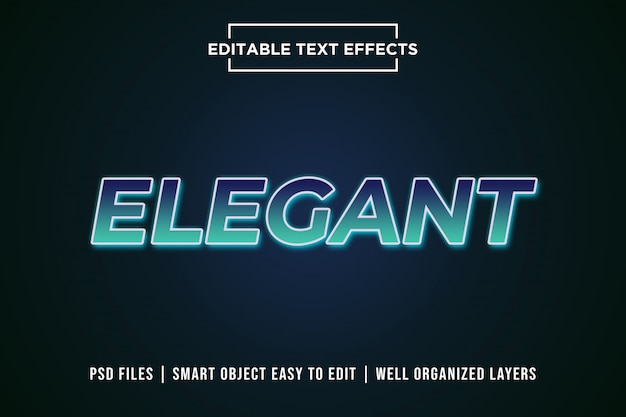 Elegant gradient editable text effect mockup