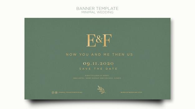 Elegant horizontal banner template for wedding