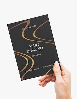 Design elegante mockup di carta di invito