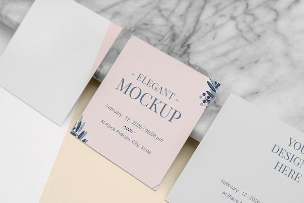 Элегантный набор макетов приглашения