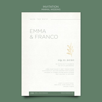 Elegant invitation template for wedding