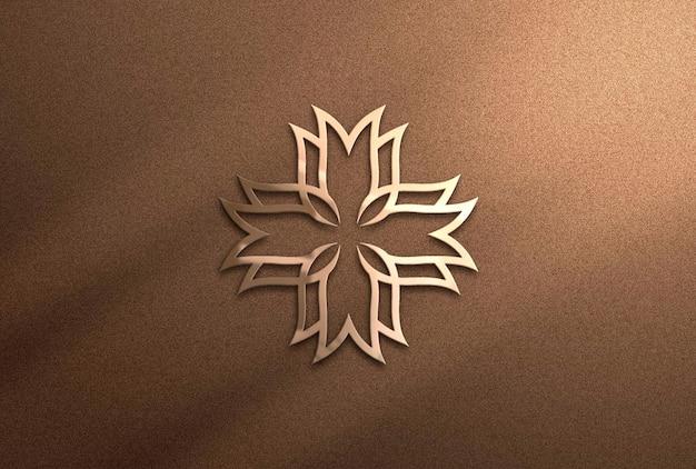 Elegant logo mockup in 3d rendering