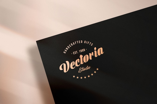 Elegant logo mockup on paper