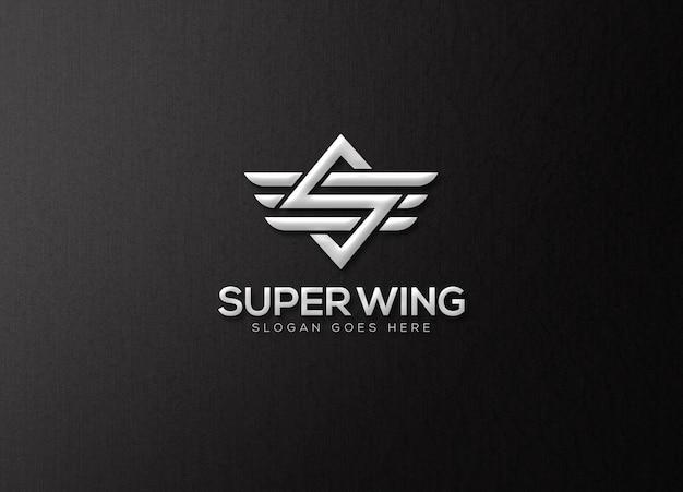 Elegant logo mockup template